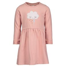 Hippo + Friends Toddler Girl Cat Print Dress