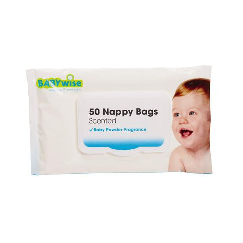 Babywise Scented Nappy Bags 50 Pack