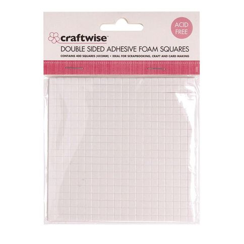 Craftwise Foam Tape 3D Squares