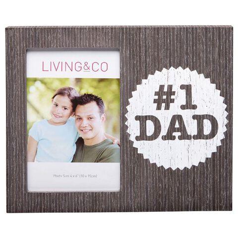 Living & Co Hugo Printed Frame Father's Day No1 Dad