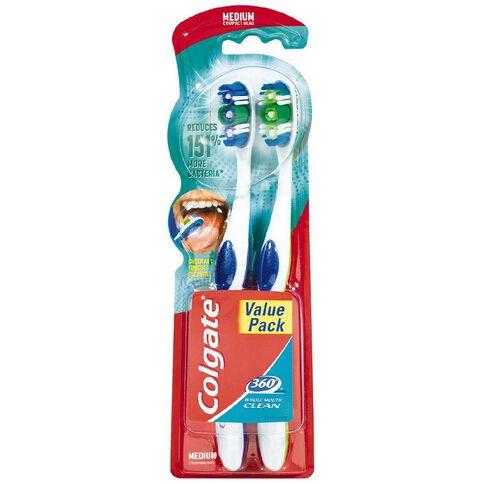 Colgate 360 Degree Medium Toothbrush Twin Pack