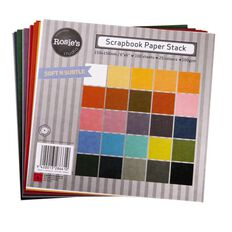 Rosie's Studio Scrapbook Paper Neutrals 6in x 6in 100gsm 100 Pack