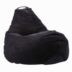 Bean Bag Corduroy Pre Filled Polystyrene Black 200L