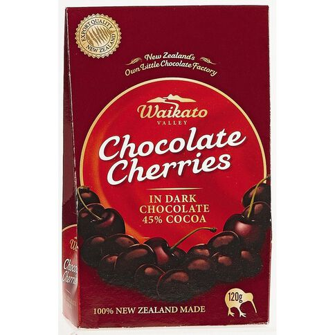 Waikato Valley Chocolates Dark Chocolate Cherries 120g