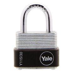 Yale 115 Series Padlock Laminated 30mm