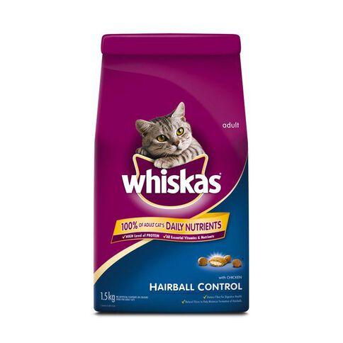 Whiskas Dry Cat Food Hairball 1.5kg
