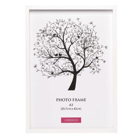 Living & Co Frame Eden White A3