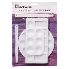 Artwise Palette & Knife Plastic Set 5 Piece