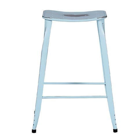Solano Distressed Paint Stool Duck Egg 66cm