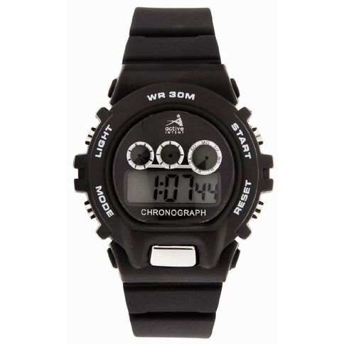 Active Intent Sports Watch Black