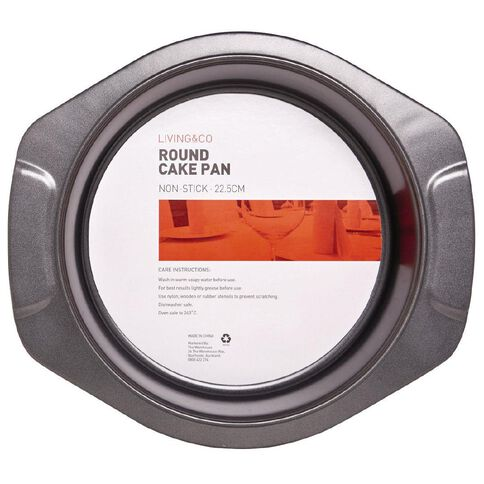 Living & Co Heavy Gauge Round Pan 29.5 x 26.5 x 5cm