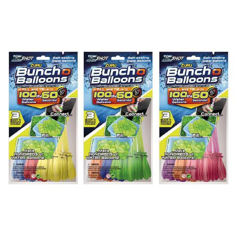 Zuru Bunch O Balloons Foilbag 3 Pack Assorted Colours