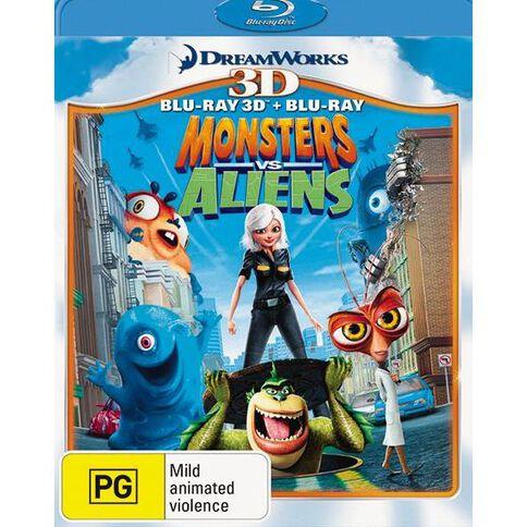 Monsters vs Aliens 2 Disc (Blu-ray + 3D Blu-ray 2Disc