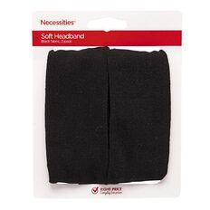 Necessities Brand Hair Soft Headbands Black 2 Pack