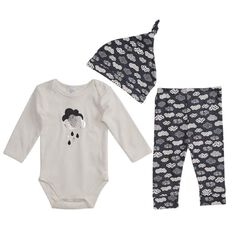 Hippo + Friends Baby Boy 3 Piece Set