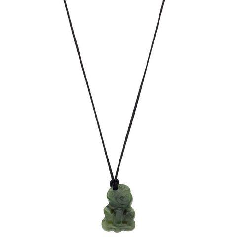 Jade Small Tiki Pendant