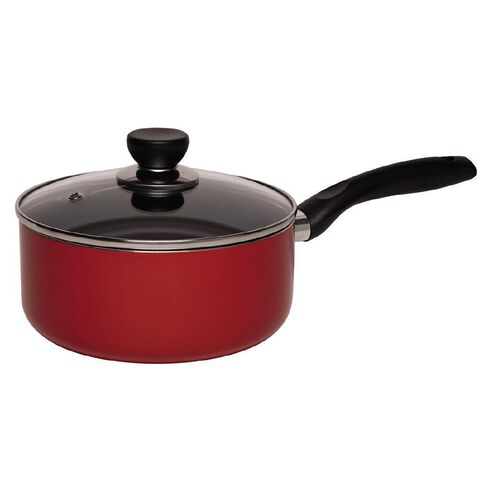 Living & Co Covered Saucepan Red 20cm