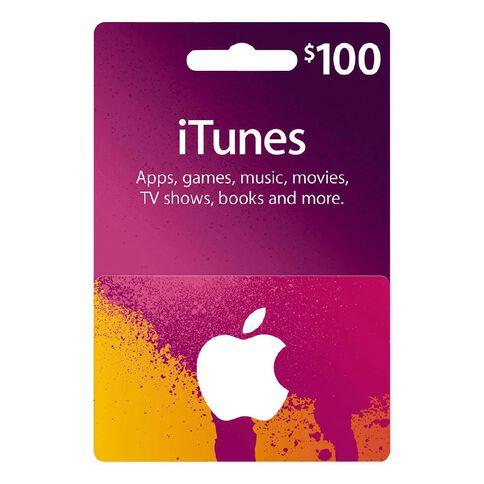 Apple iTunes Splash $100