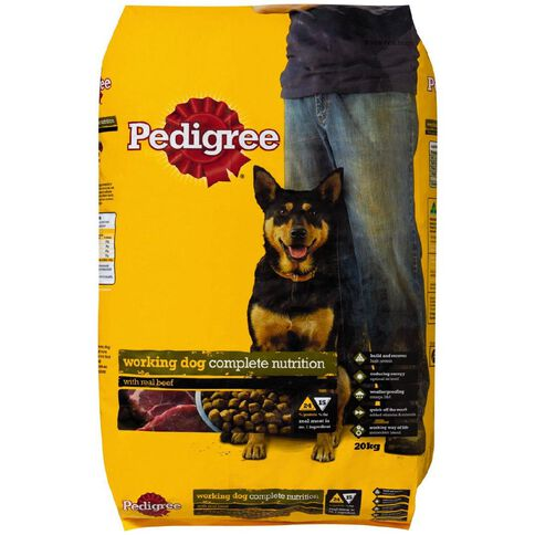 Pedigree Working Dog with Real Beef 20kg