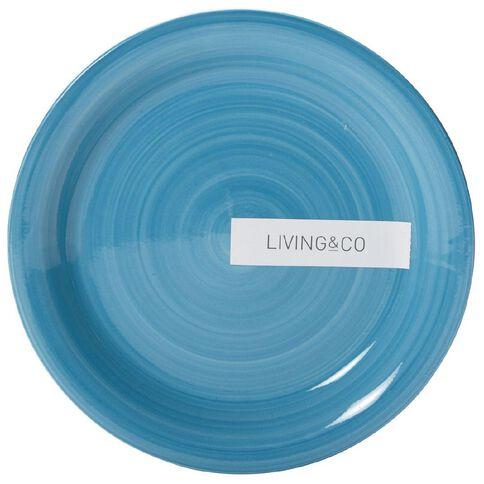 Living & Co Hand Painted Side Plate Aqua 7.5 inch