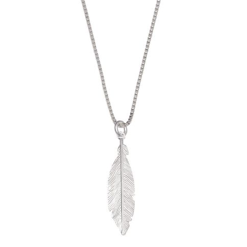 Sterling Silver Feather Chain Pendant