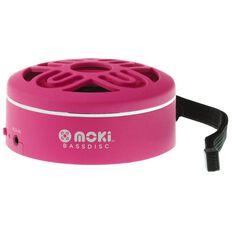 Moki BassDisc Bluetooth Speaker Pink