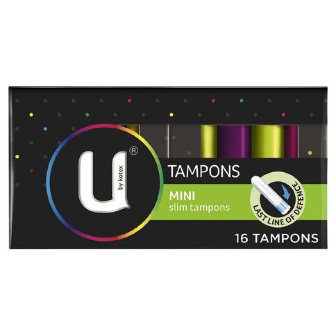 U By Kotex Mini Slim Tampons 16s
