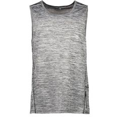 Active Intent Men's Space Dyed Reflective Print Singlet