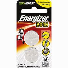 Energizer Lithium Coin ECR2016BP2 2 Pack