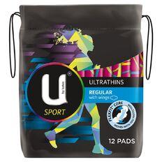U By Kotex Regular Ultrathins Sport Winged 12 Pack