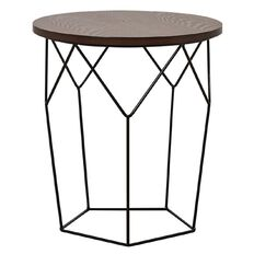 Living & Co Geo Side Table Matte Black
