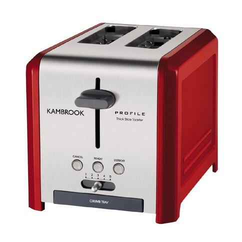 Kambrook 2 Slice Toaster Red KT250R