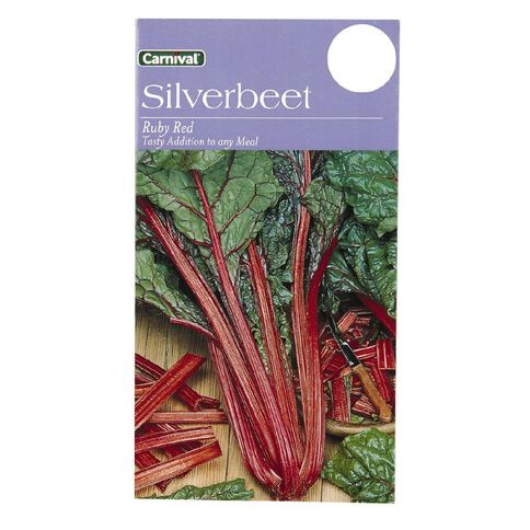 Carnival Seeds Silverbeet Ruby Red