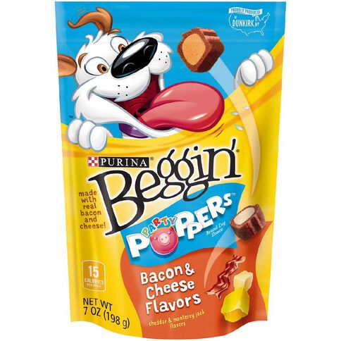 Purina Beggin' Party Poppers Bacon and Cheese 198g
