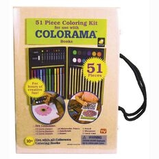 As Seen On TV Colorama Colouring Kit 51 Piece