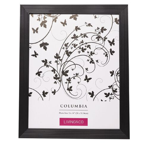Living & Co Frame Columbia Black 11in x 14in