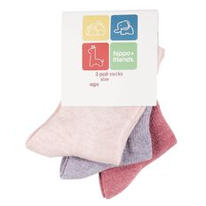 H&H Infants HFG Stay On Socks 3 Pack