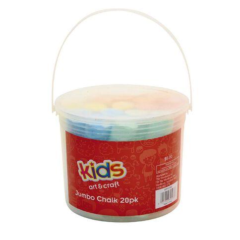 Kids' Art & Craft Jumbo Chalk 20 Pack