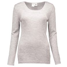 Basics Brand Women's Thermal Merino Long Sleeve Round Neck Top