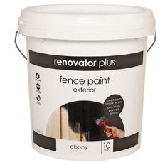 Renovator Plus Fence Paint Ebony 10L
