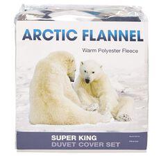 Arctic Flannel Duvet Cover Set Triangle Multi