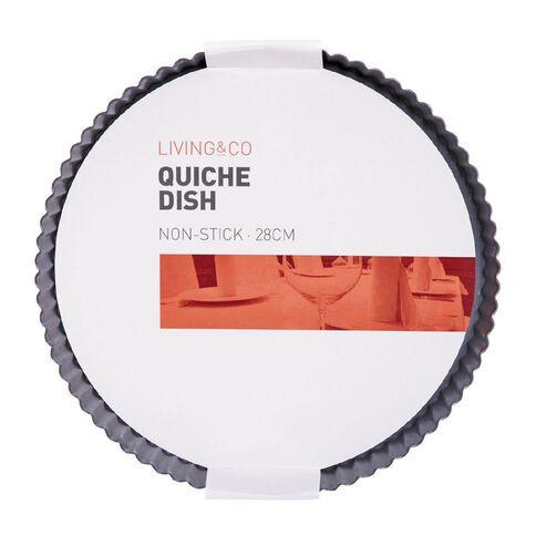Living & Co Heavy Gauge Quiche Pan Round 28cm