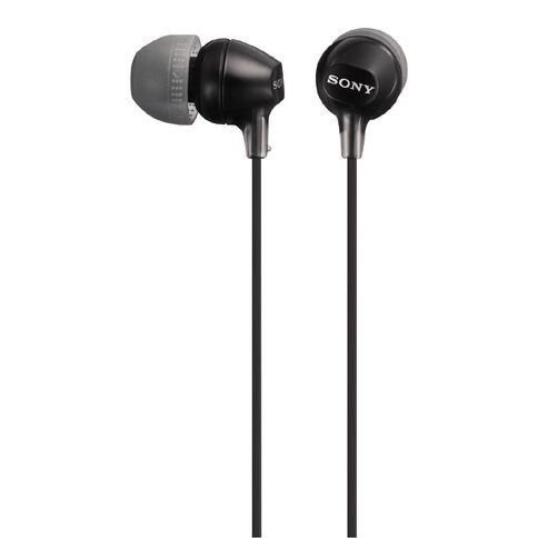 Sony In-Ear Lightweight Earbuds MDREX15LP Black