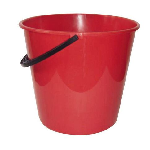 Necessities Brand Plastic Bucket Assorted Colours 9.6L