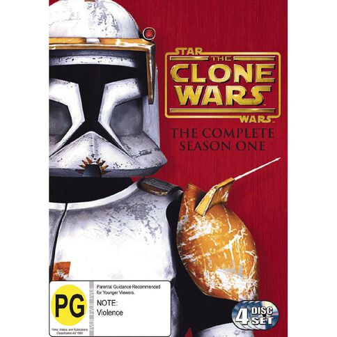 Star Wars Clone Wars The Complete Season 1 DVD 4Disc