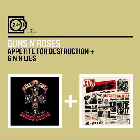 2 for 1 Appetite for Destruction/GNR Lies CD by Guns N Roses 2Disc