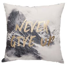 Living & Co West Bay Cushion Never Give Up