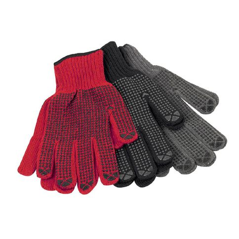 Gloves Poly Cotton with Polka Dots 3 Pair Pack