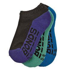 Bonds Boys' Logo Socks 3 Pack