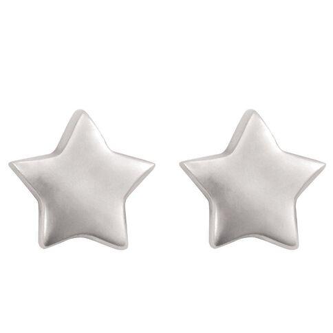 Sterling Silver Mini Star Stud Earrings